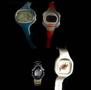 Great Lot of 4 Sport Watches: Nike, Timex, Modify